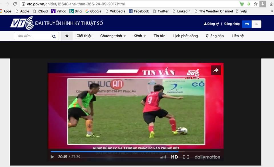 Điểm tin Giải bóng đá The Thao Thiên Long 2017 - Cup Trần Doãn